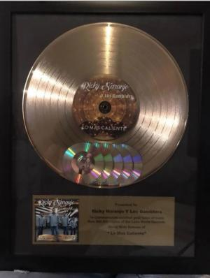 Gold Record Presented to Ricky Naranjo y Los Gamblers